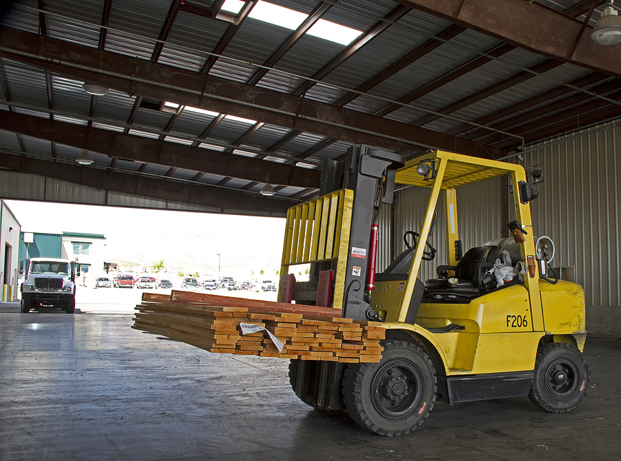 Rugged used Hyster forklift