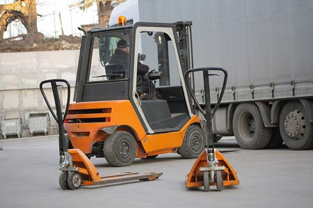 A used Clark forklift for indoor/outdoor applications