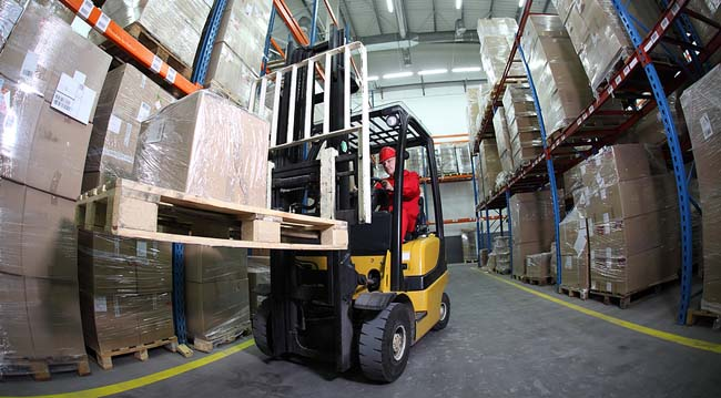 Used Raymond Forklift in the warehouse