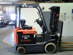 Toyota 7FBCU25 Electric Cushion Tire Counter Balanced Forklift