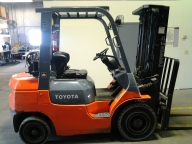 Toyota 7FBCU25 Cushion Tire Counter Balanced Forklift