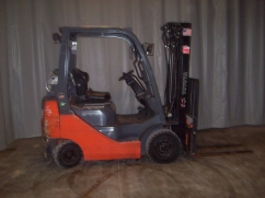 Reconditioned forklift with replacement forklift parts where needed.